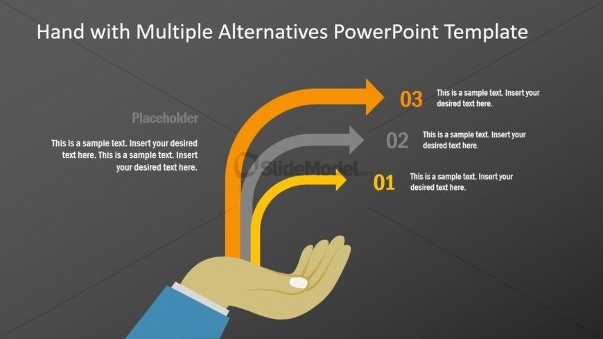 Presentation of 3 Steps Arrow Diagram