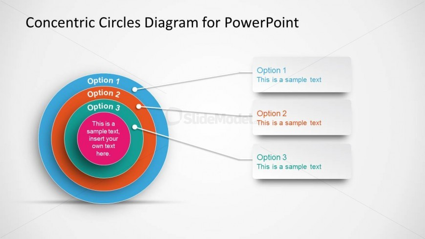 Onion Diagram For Powerpoint With Concentric Circles Slidemodel