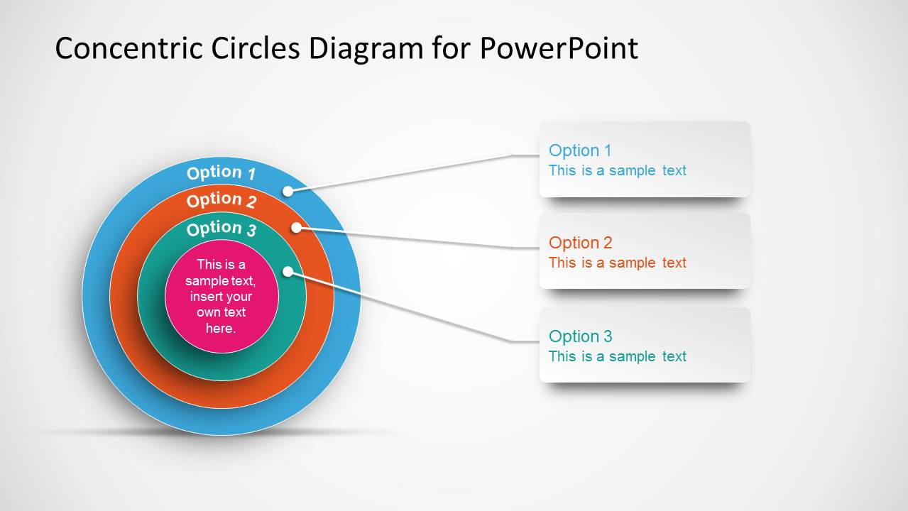 Onion Diagram for PowerPoint with Concentric Circles
