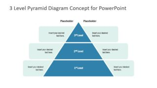 Pyramid Template of 3 Level Diagram