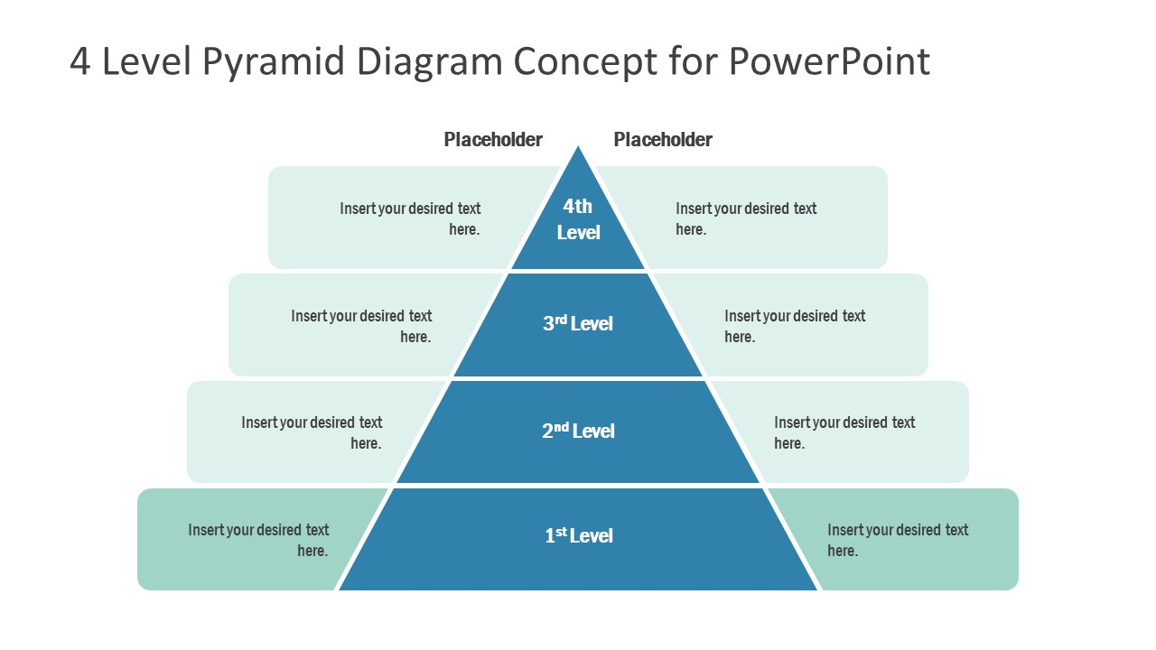 Template of Pyramid Diagram 1 Level