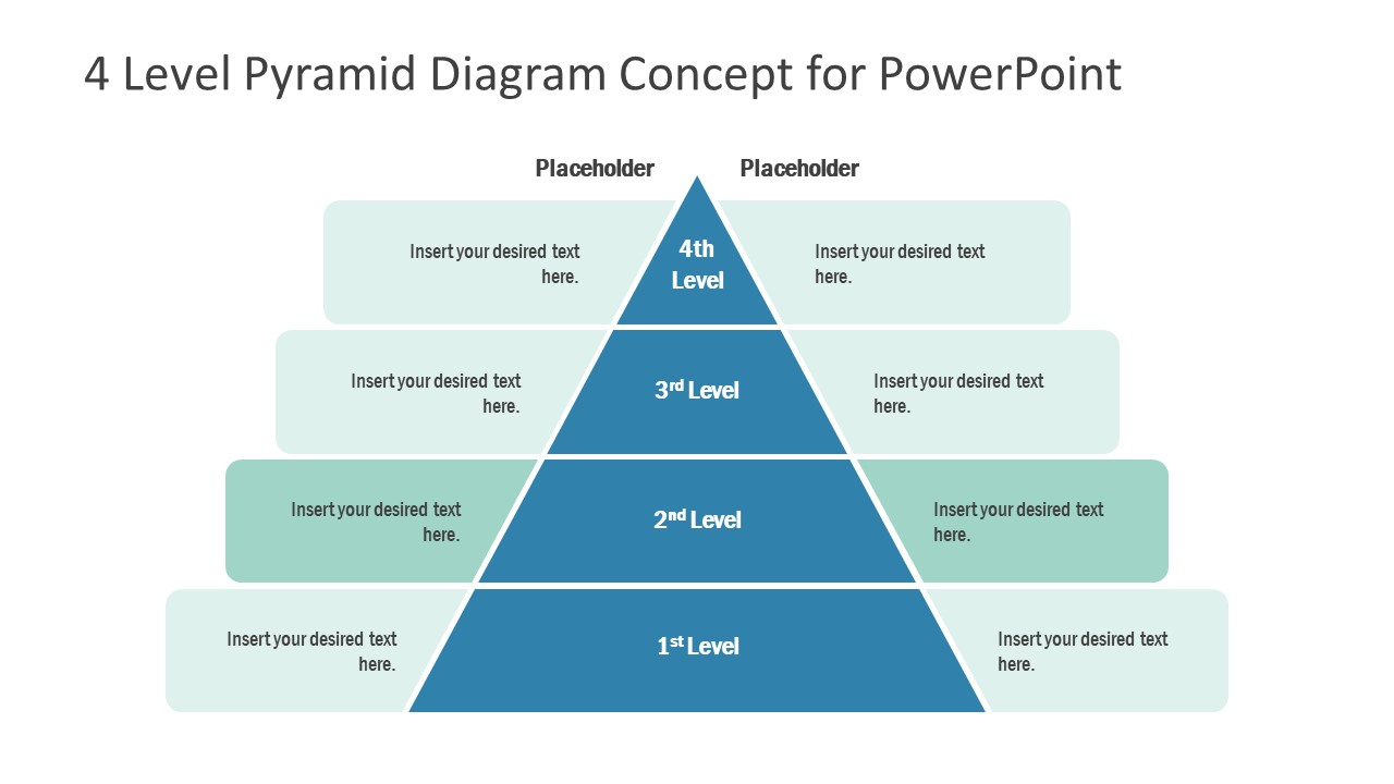 Template of Pyramid Diagram 2 Level