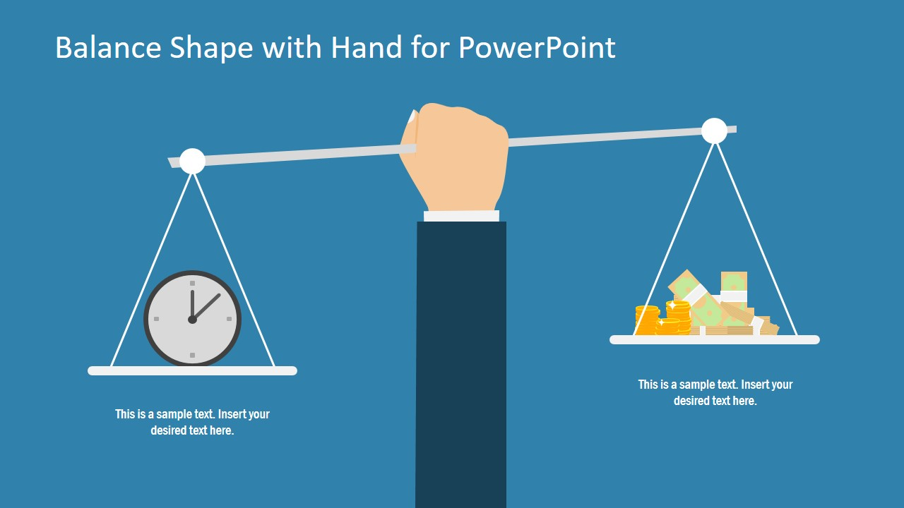 Flat Weighing Scale PowerPoint