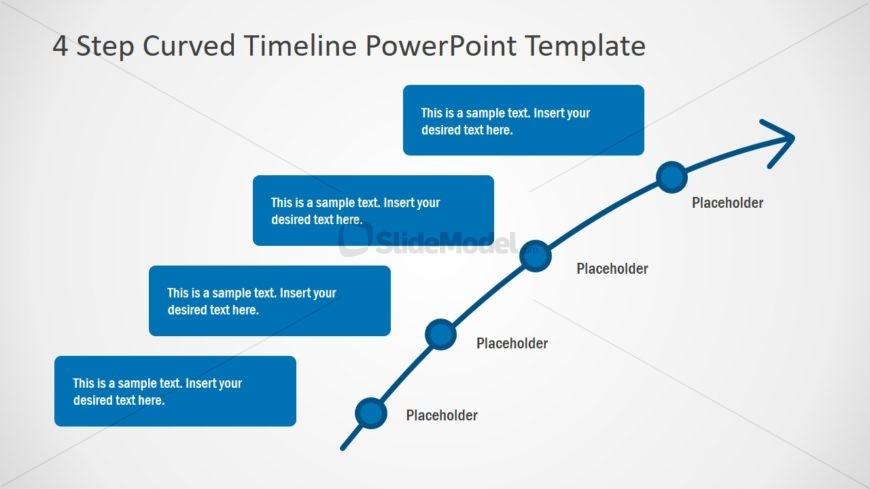 Timeline Layout 4 Milestones