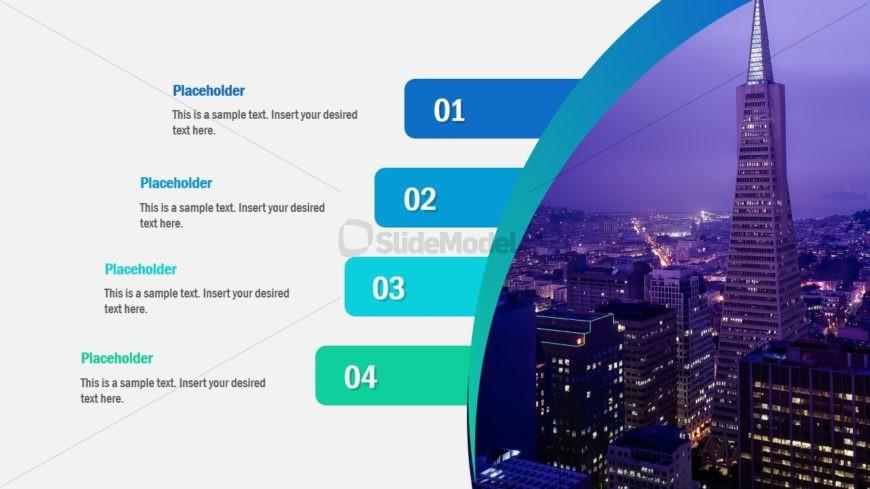 Flip Skyscraper PowerPoint Agenda