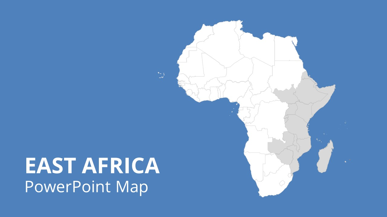 Editable Map Template of Africa