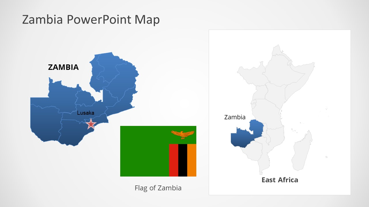 Template of Zambia Map Outline