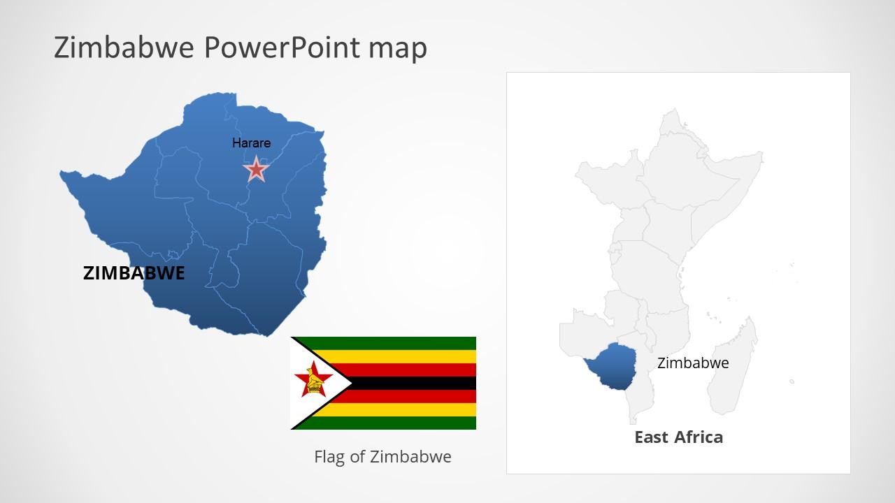 Template of Zimbabwe Map Outline