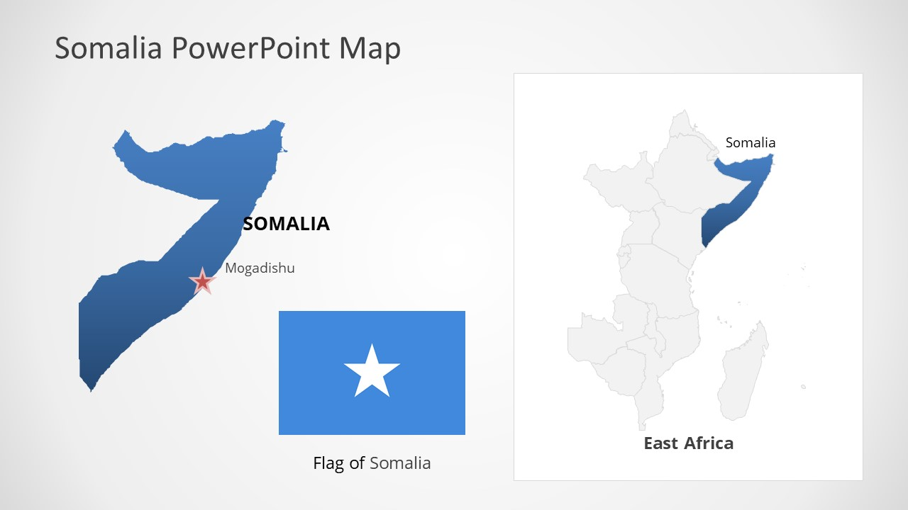 Template of Somalia Map Outline