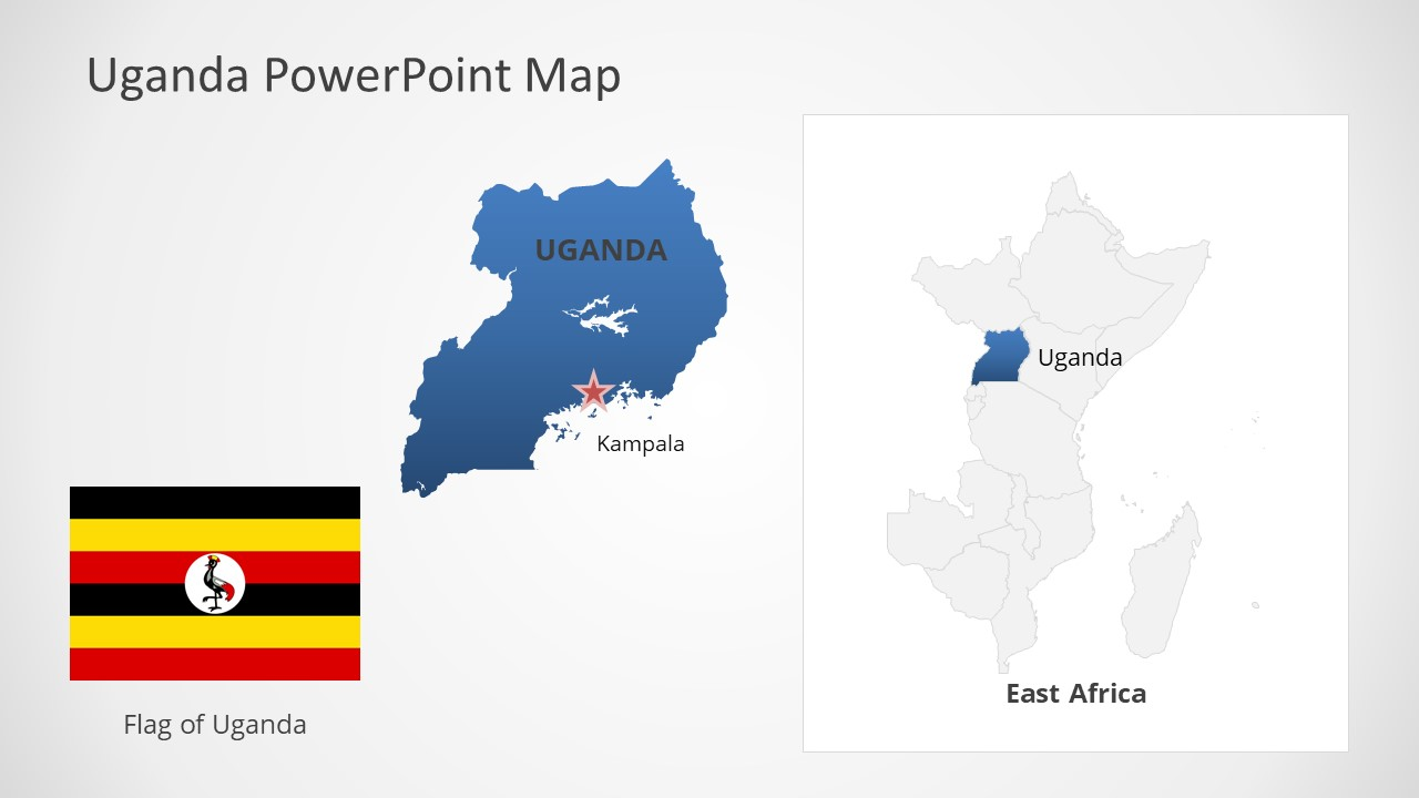 Template of Uganda Map Outline