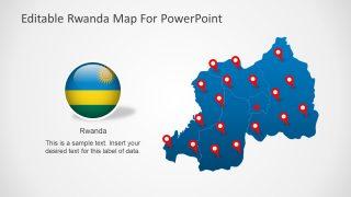 Rwanda Editable Map Template