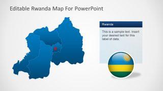 Rwanda Map of Provinces PPT
