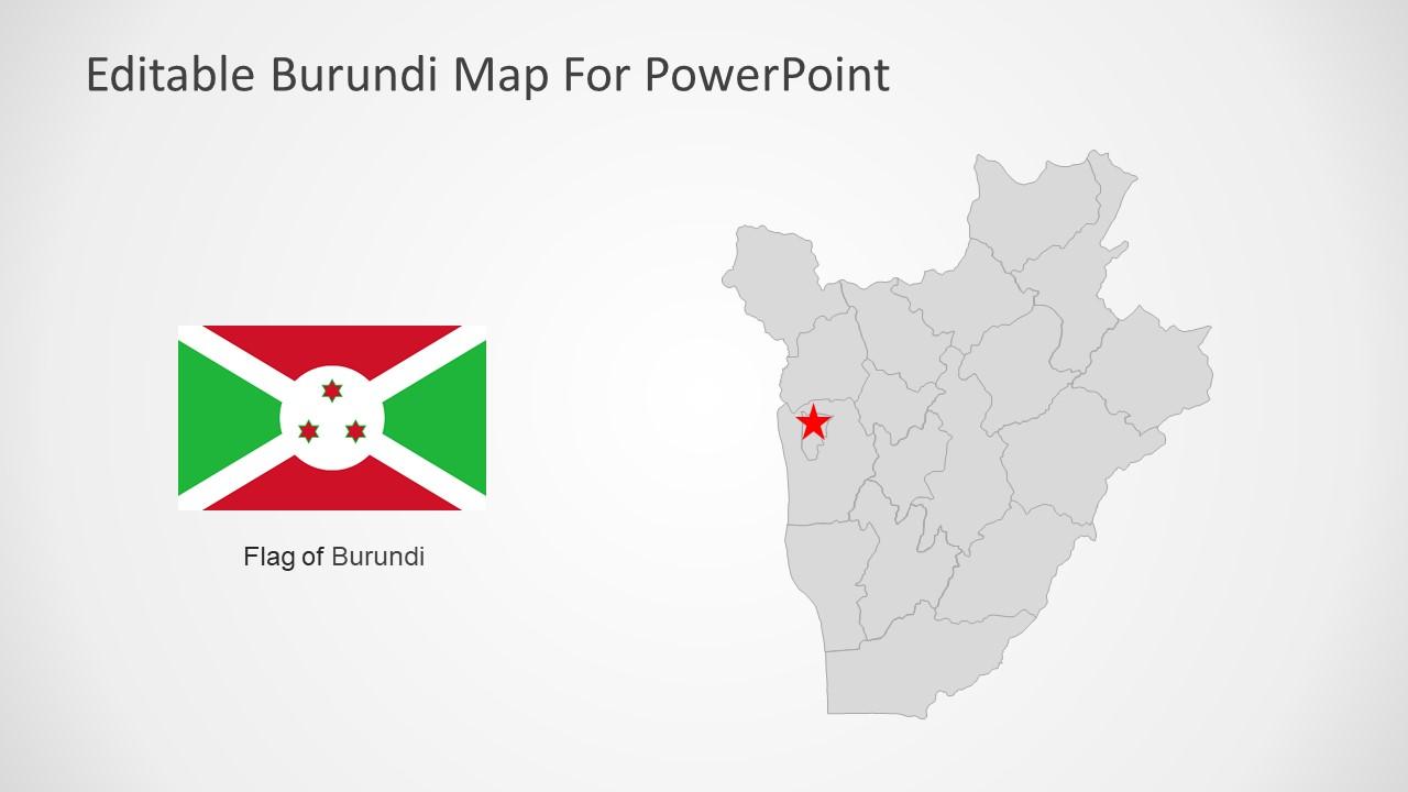 Silhouette Map for Burundi