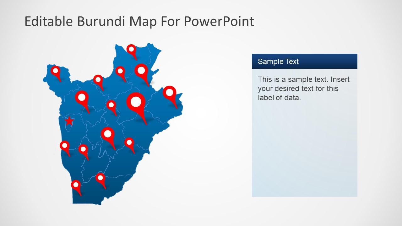 Map Template for Burundi Africa
