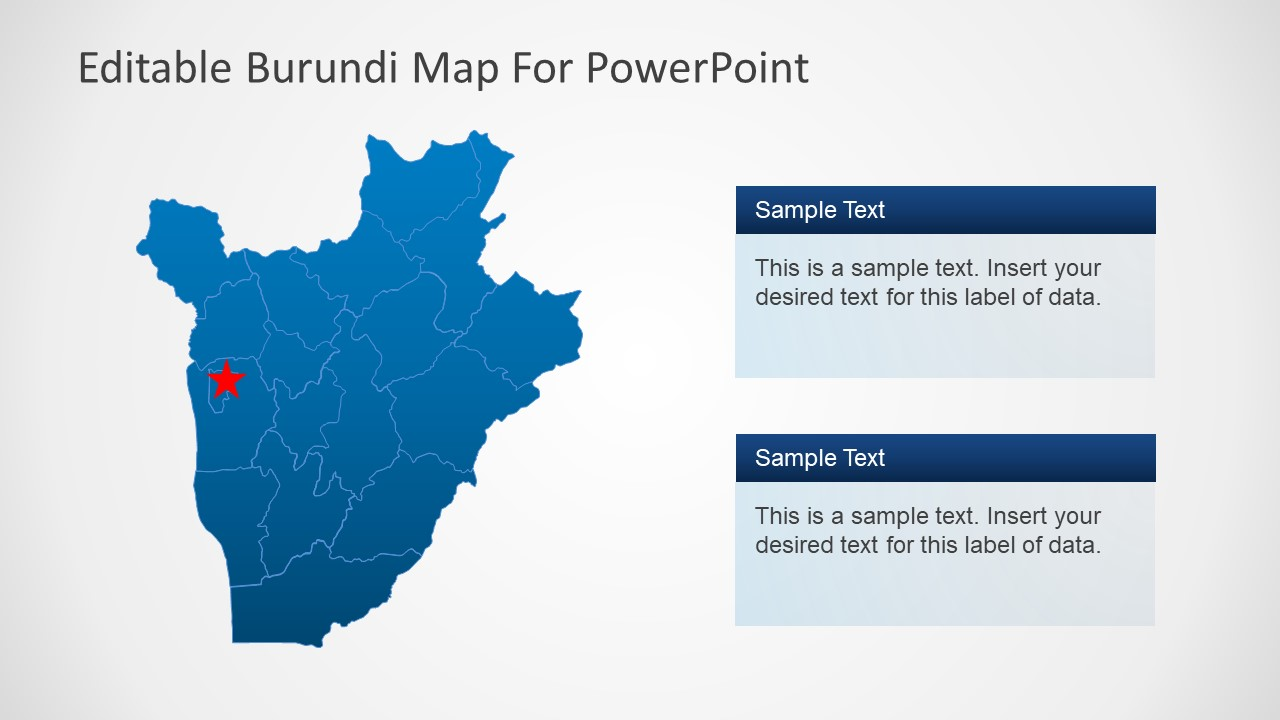 Outline PowerPoint Burundi Map