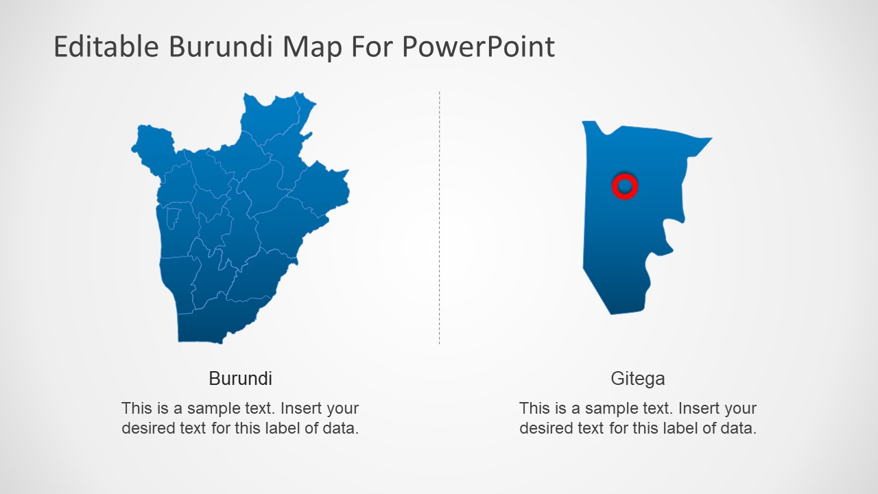 Political Map of Burundi PowerPoint