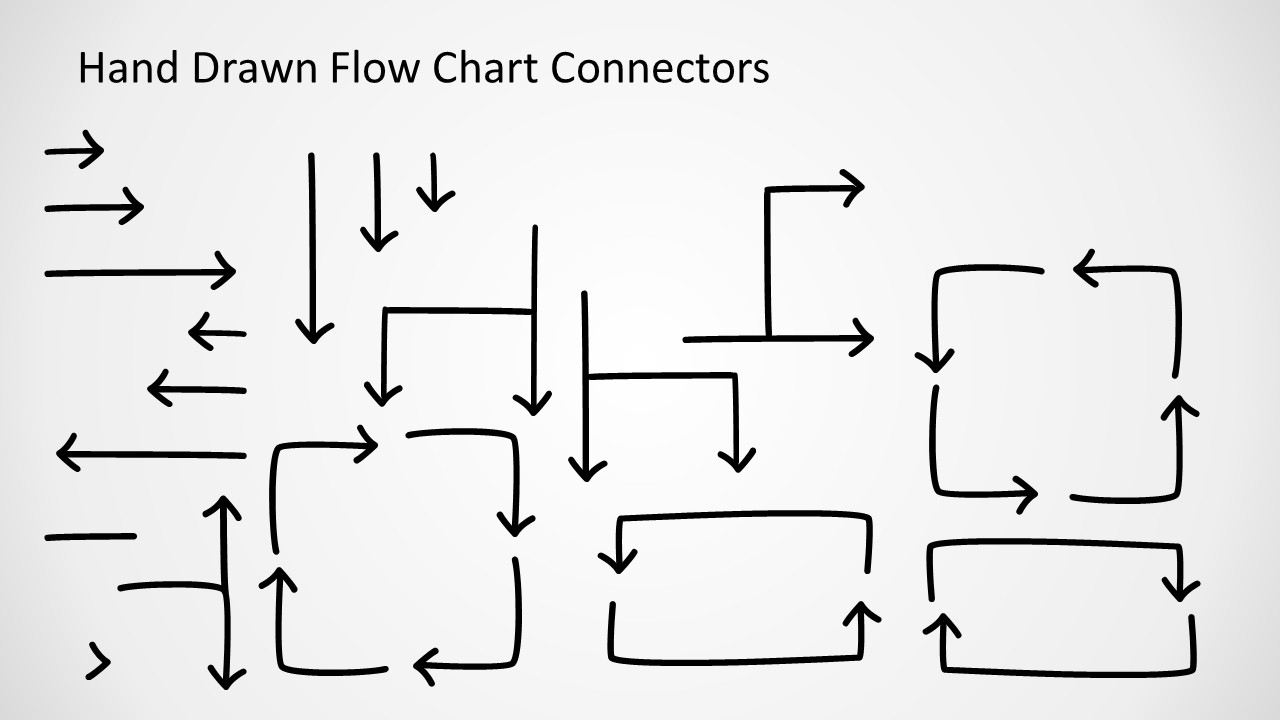 hand drawn flow chart template for powerpoint - slidemodel, Powerpoint templates