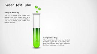 Green Test Tube Shape for PowerPoint