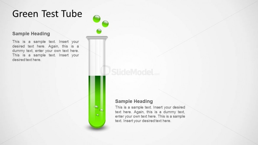 Green Test Tube Shape for PowerPoint