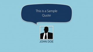 Quote Layout Example Slide for PowerPoint