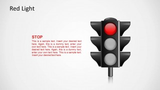Traffic Light Illustration with Red Light On