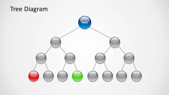 4 Levels Tree Diagram Design for PowerPoint