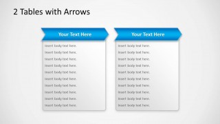 2 Tables with Arrows in PowerPoint