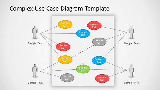 Complex Use Case Diagram Example for PowerPoint Slide Design