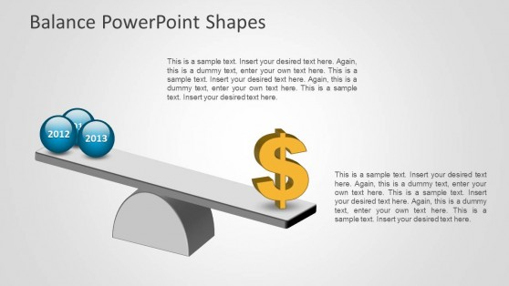 Money Balanced Weight with 3D Spheres