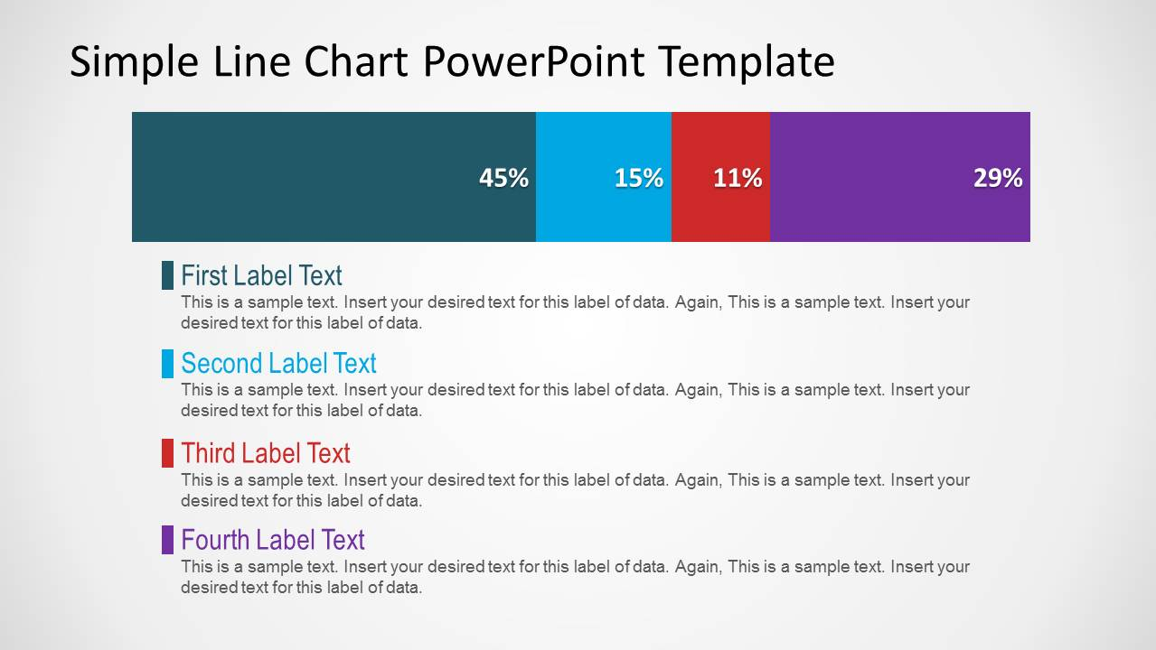 PowerPoint Horizontal Stacked Bar Chart with Labels