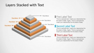 Slide of 3D Pyramid with 7 Layers for PowerPoint