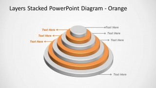 Orange Layered Stacked Diagram for PowerPoint Multi-Level