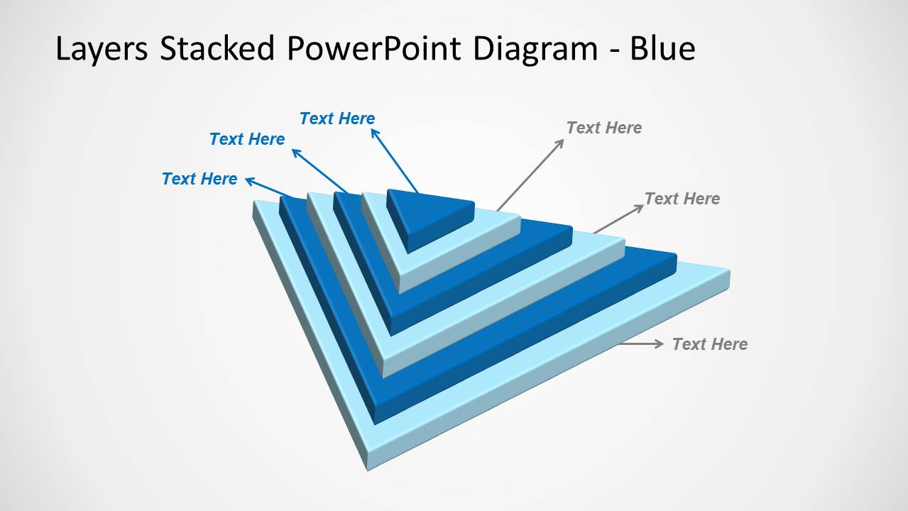 3d stacked  u0026 multi-layer diagram for powerpoint