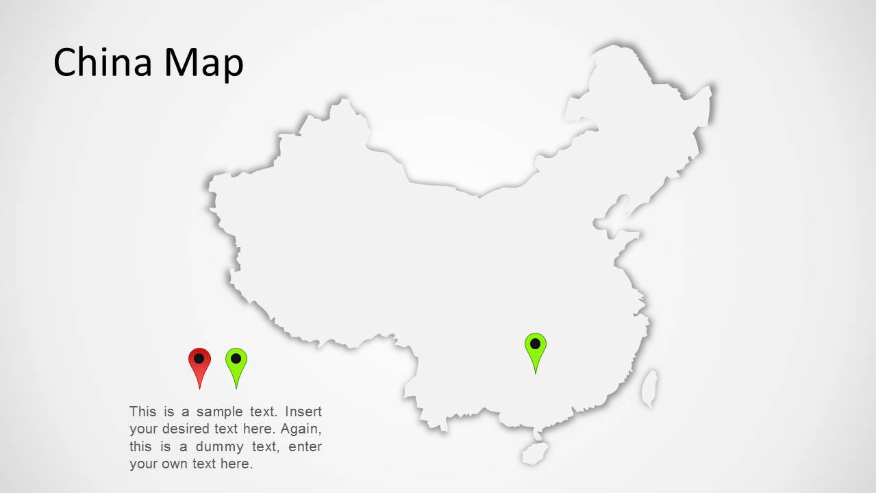 china map for powerpoint