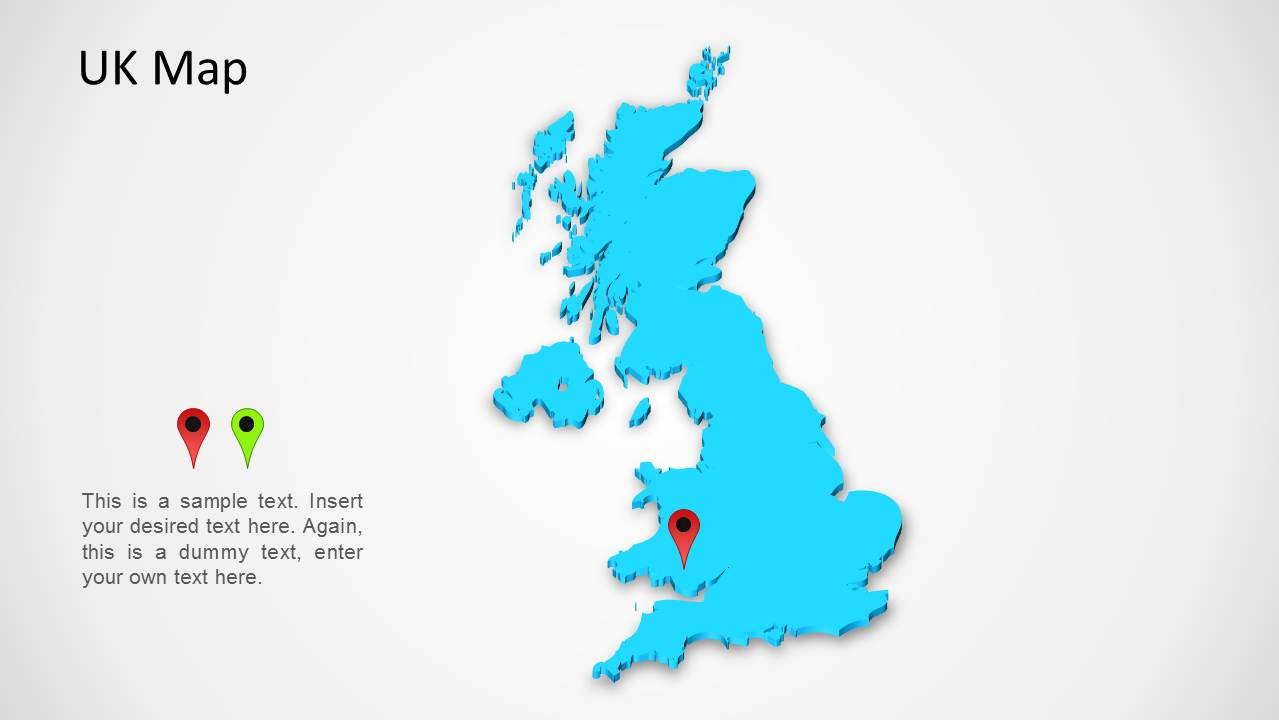 Map Of Uk Template.Uk Map For Powerpoint