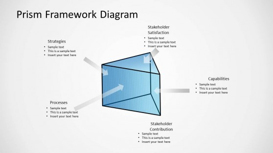 Prism Shape for PowerPoint with Arrows