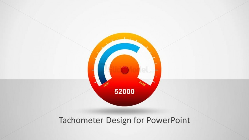 Analog Tachometer Gauge Slide for PowerPoint