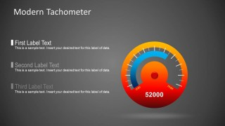 Tachometer Gauge Template for PowerPoint