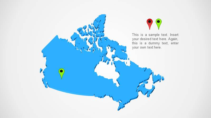 canada map ppt template design slidemodel