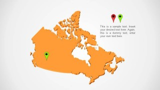 Simple Map Of Canada.Canada Map Slidemodel