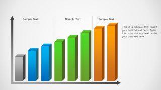 Editable 3D PowerPoint Bar Chart