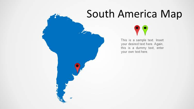 South america map wide 1g outline south america map for powerpoint toneelgroepblik Images