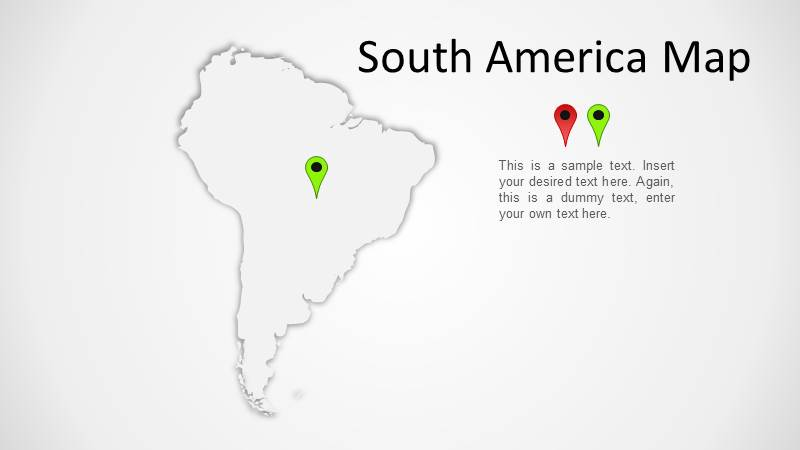 South America Transparent Map
