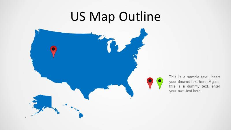 United States Powerpoint Map Slidemodel