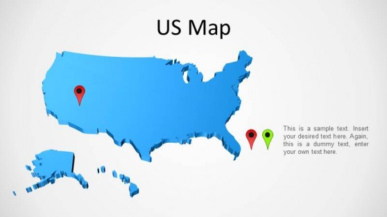 3D PowerPoint Map of the United States