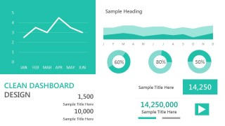 Clean Dashboard Example Slide Design for PowerPoint