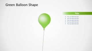 Green Balloon Shape Design for PowerPoint
