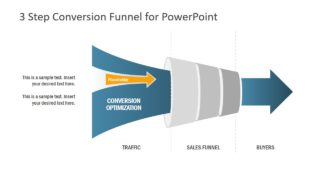 3 Step Conversion Funnel PowerPoint Template