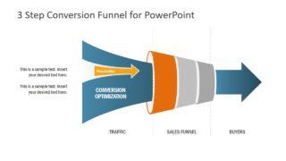 Funnel PowerPoint in 3 Steps