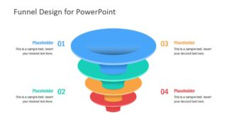 4 Step Color Funnel Design PowerPoint Template